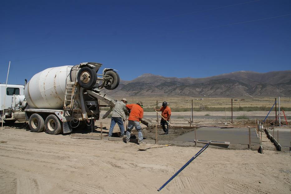 Pouring a Concrete Pad